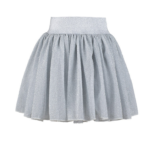 Bob & Blossom - Silver Sparkle Party Skirt