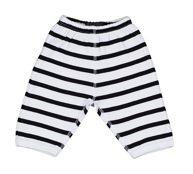 Bob & Blossom - White and Black Striped Trouser