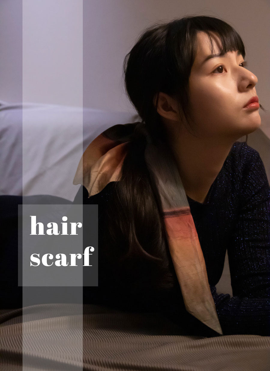cotton hair scarf style from a friend of mine online paris taipei tokyo
