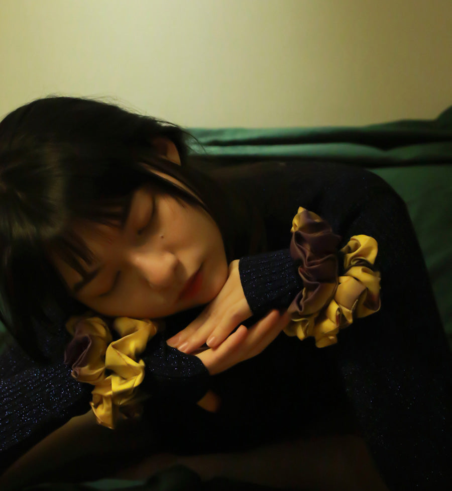 silk scrunchies from a friend of mine online paris taipei tokyo high fashion brand