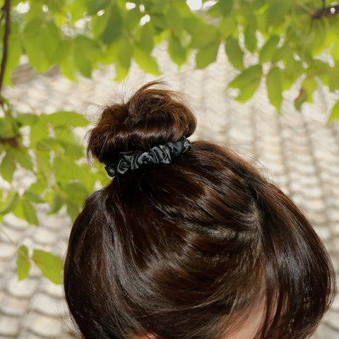 "Buy Ash Black Silk Scrunchie ""Antithesis"" Isetan Barneys Dover Street Market Selfridges"