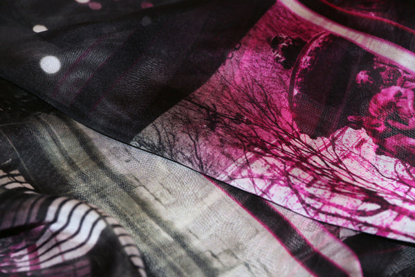 スカーフ 通販 女性 プレゼント black silk chiffon scarf from a friend of mine paris' impression online taipei tokyo