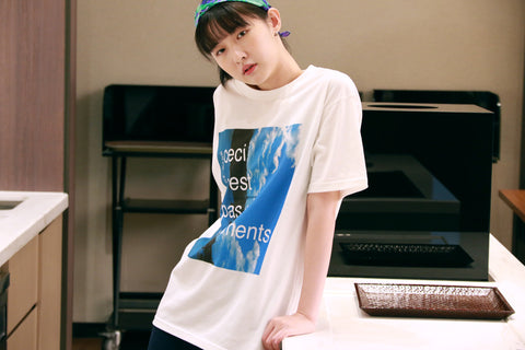 "Buy Printed white T-shirt ""Ceci n'est pas un vetements"" from a friend of mine online paris taipei tokyo"
