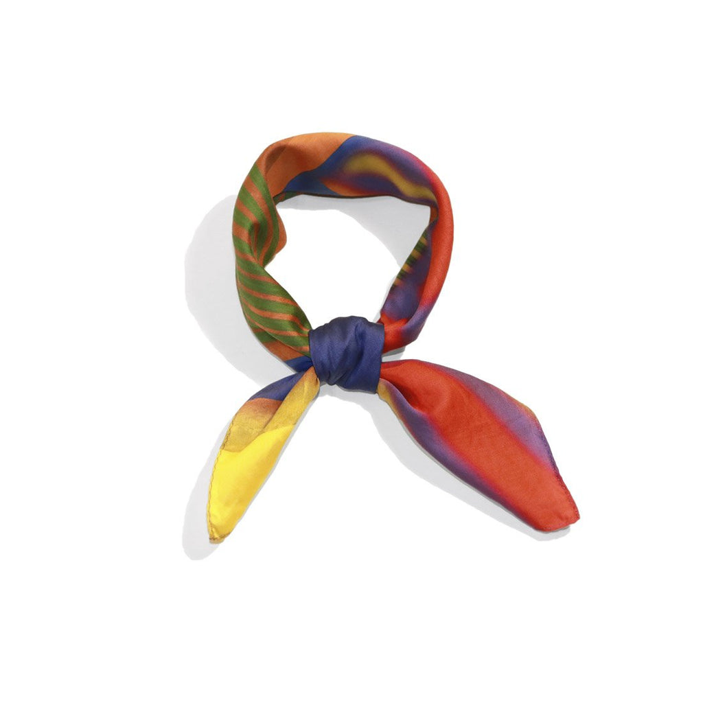 fashion rainbow cotton satin scarf from a friend of mine online paris taipei tokyo