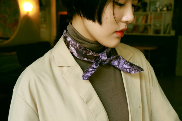 buy violet cotton satin scarf online paris taipei tokyo from a friend of mine
