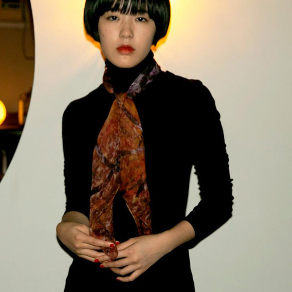 Luxury fashion silk chiffon scarf from a friend of mine online paris taipei tokyo