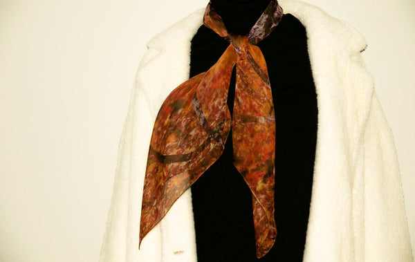 Luxury fashion silk chiffon scarf from a friend of mine