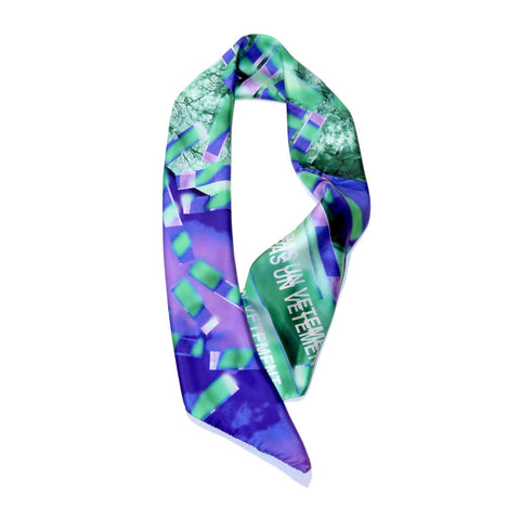 buy stylish fashion green purple silk scarf vetements スカーフ 通販 from a friend of mine online paris taipei tokyo isetan harrods dover street market