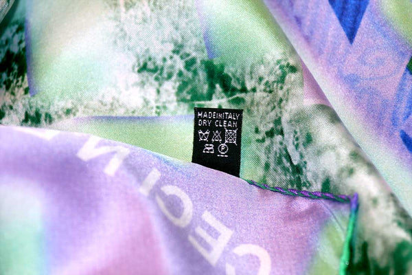 buy stylish fashion green purple silk scarf made in Italy vetements スカーフ online isetan harrods dover street market made in italy