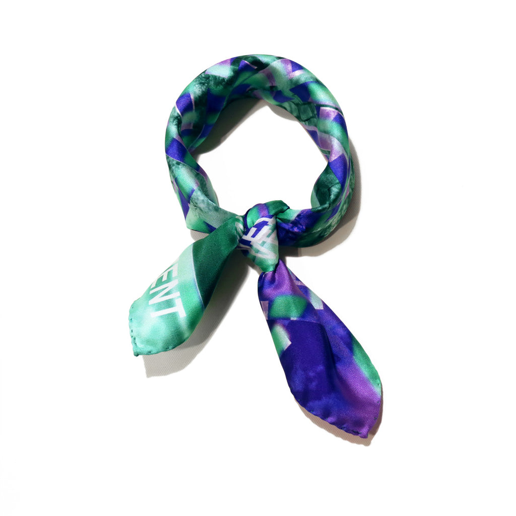 buy stylish fashion purple green silk scarf online paris taipei tokyo スカーフ from a friend of mine スカーフコーデ vetements harrods isetan dover street