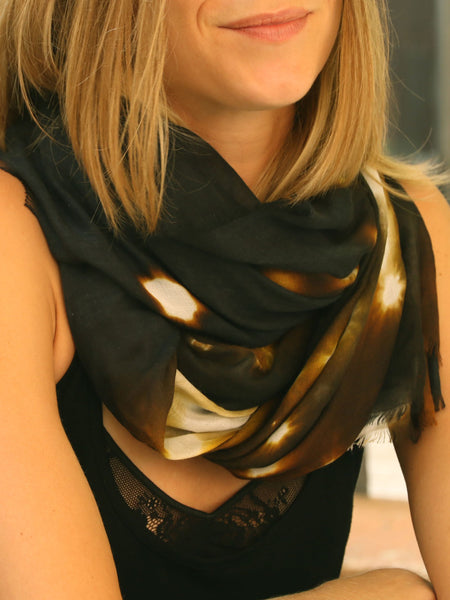 shop stylish big black scarf style paris taipei tokyo from a friend of mine vogue harrods isetan silk modal shawl