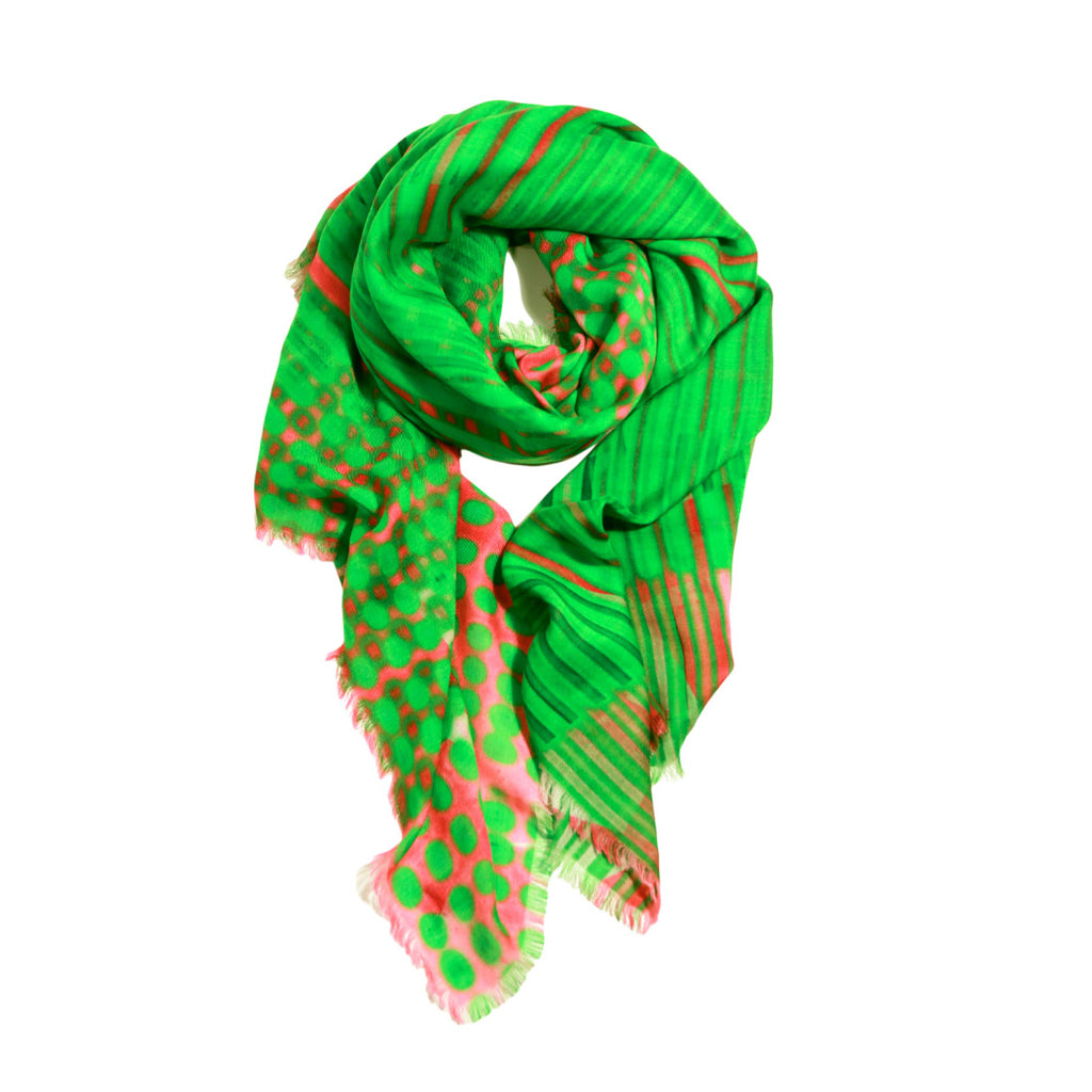Buy luxury fashion shawl Walter Van Beirendonck print cashmere modal scarf online pinkoi from a friend of mine