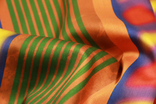 texture fashion rainbow cotton satin scarf from a friend of mine online paris taipei tokyo