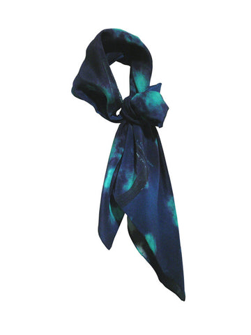 Buy blue fashion silk scarf styles for women as luxury accessories online & in Paris!