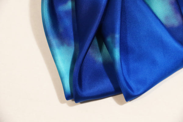 "♦ Limited Edition ♦ Luxury Big Blue Silk scarf ""Labyrinth11"" < NEW IN > FREE SHIPPING"