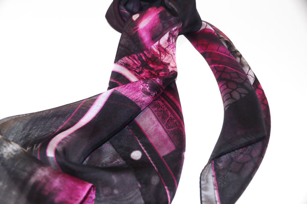 精品真絲雪紡絲巾 禮物推薦 スカーフ 通販 女性 プレゼント black silk chiffon scarf from a friend of mine paris' impression online taipei tokyo