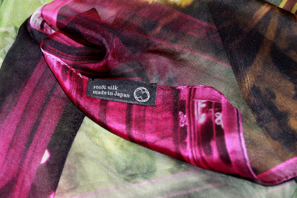 stylish black silk scarf from a friend of mine paris' impression online paris taipei tokyo made in japan