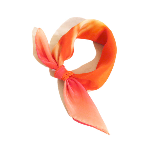 "Stylish Reddish Silk Scarf in crêpe de chine ""Bubble Gum Seine""!"