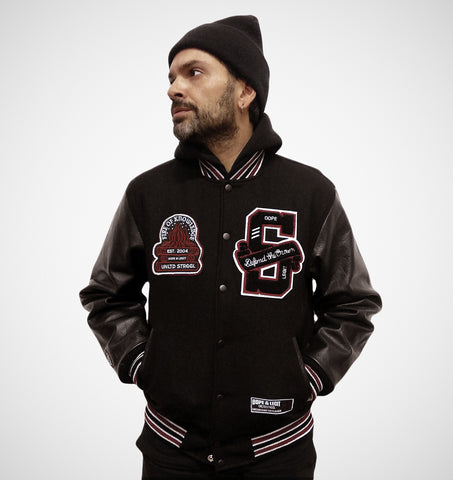 """Fire of Knowledge"" Varsity Jacket"