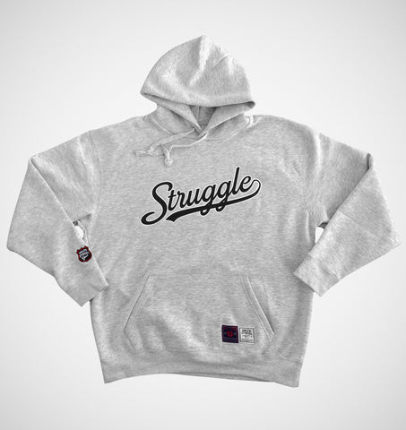 Struggle Script Hoody Sports Grey