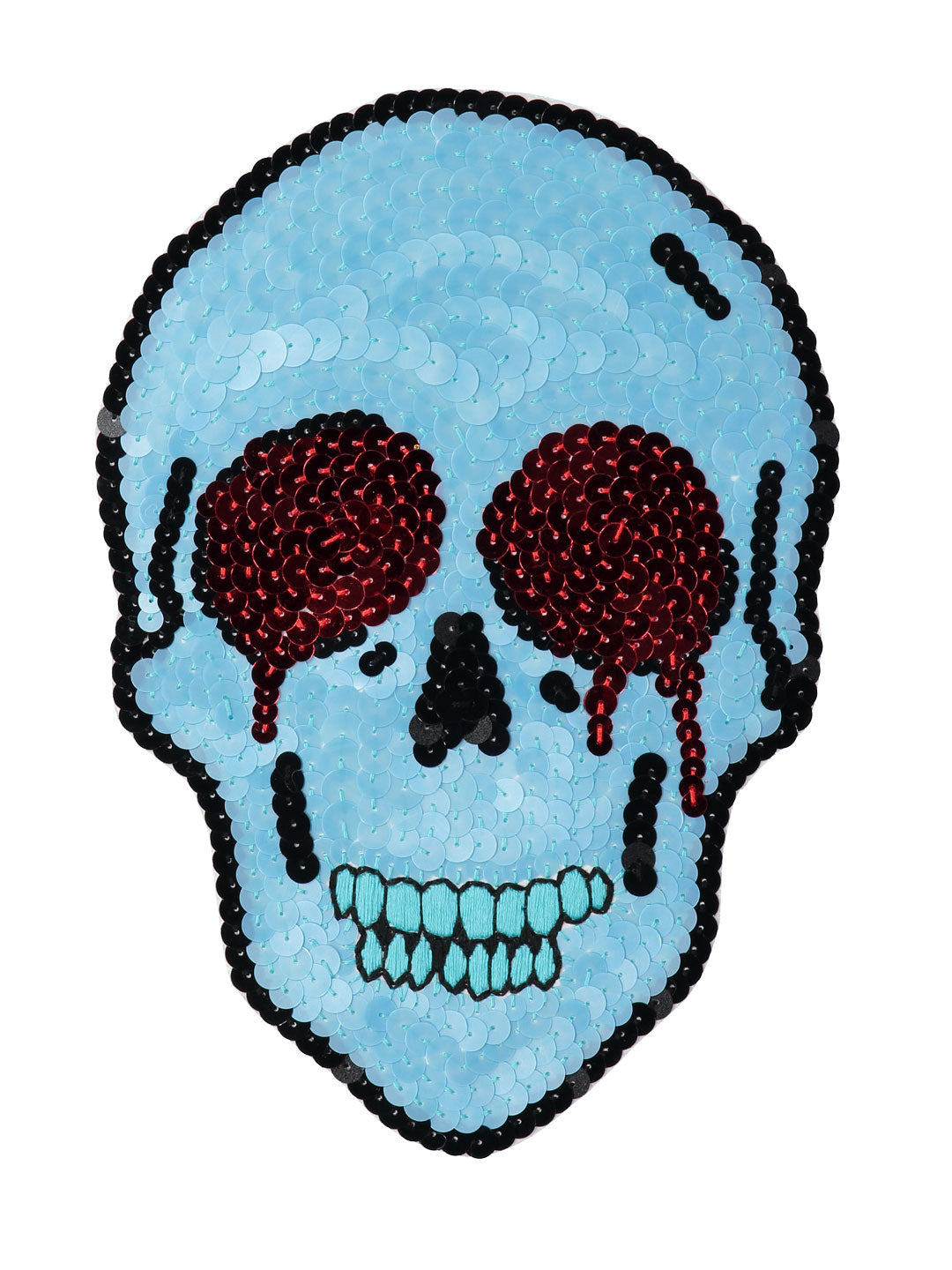 Crying Skull Sequin Patch