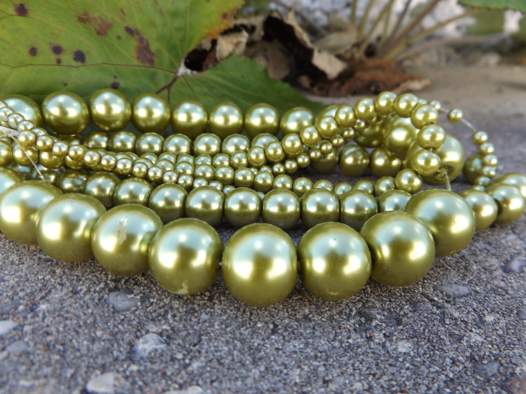 pearl necklace pea lucky pearls green il forest products choose count peas your a bronze in with pod fullxfull
