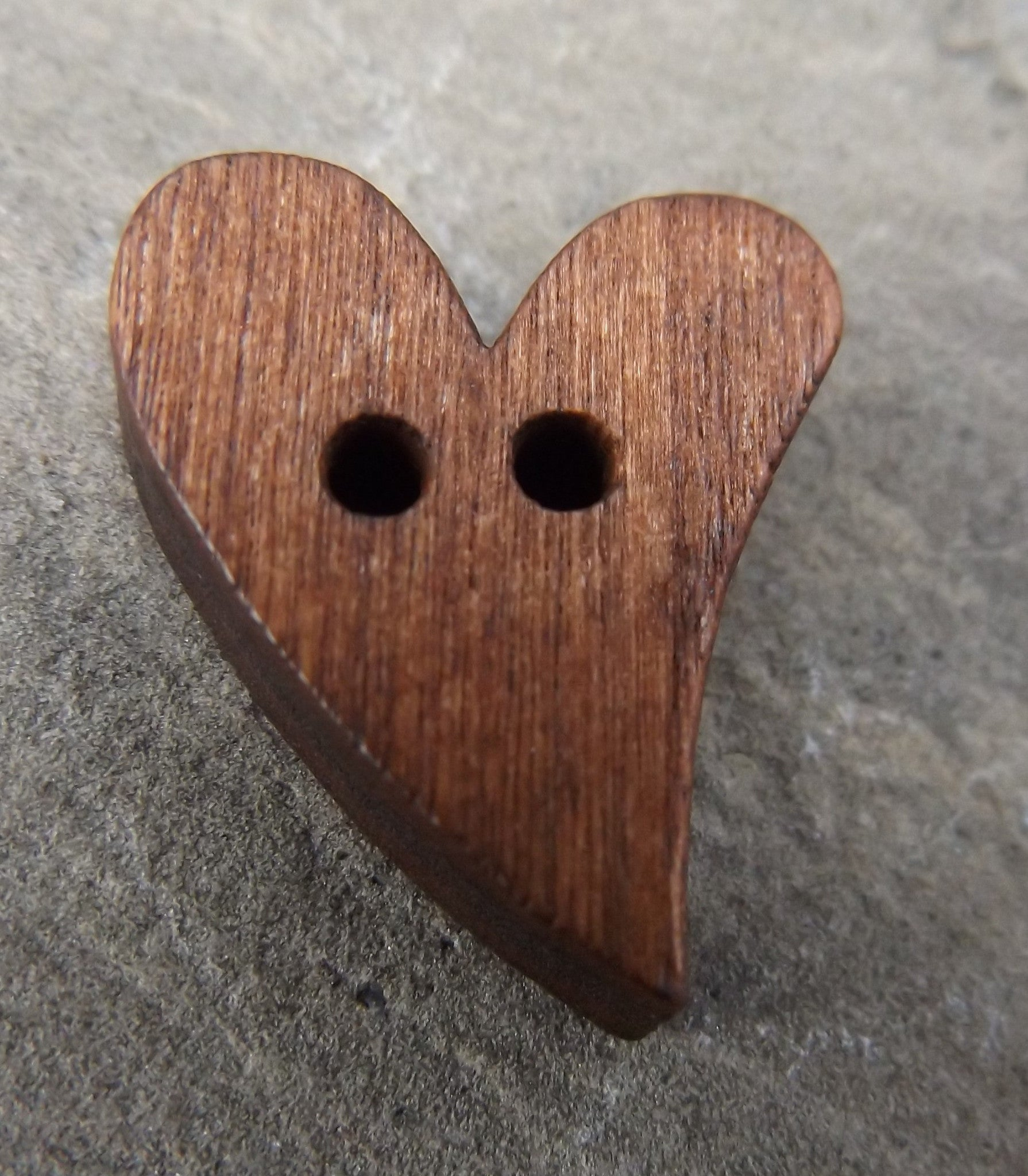 Heart Shaped Wood Buttons , (Sold Individually)