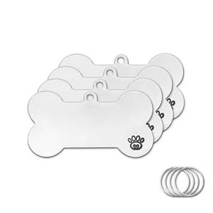 Aluminum Metal Stamping Blanks *Pet Tags (Dog/ Cat) with