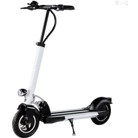 White collapsible electric scooter