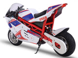 electric super bike left rear angle
