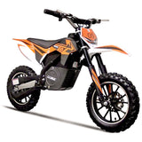 Orange and Black Electric dirt bike