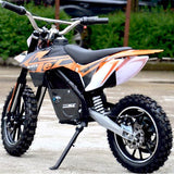 Orange and Black Electric dirt bike kick stand