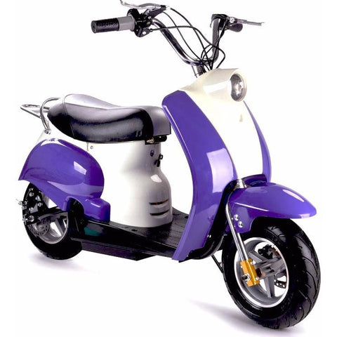 Electric Moped purple front view