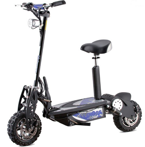 MotoTec Chaos 2000w 60v Lithium Electric Scooter (Black)