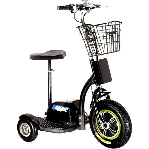 Electric power scooter with basket