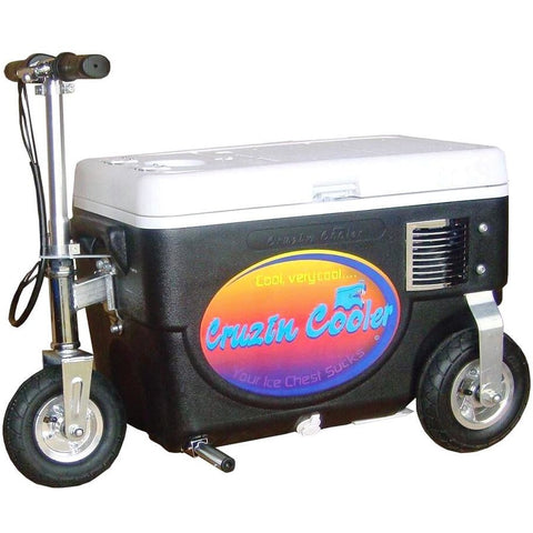 Black Electric Scooter cooler