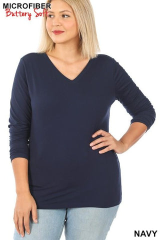 Long Sleeve Round Neck Tee (more colors)