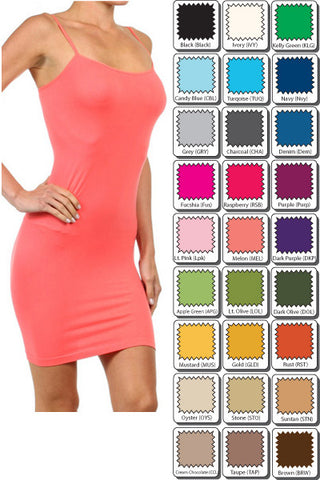 Dress Length Cami in Curvy and Regular - More Colors