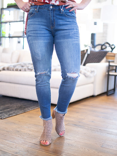 KanCan Frayed Bottom Skinny