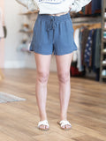 Hamden High Waisted Shorts - Ink