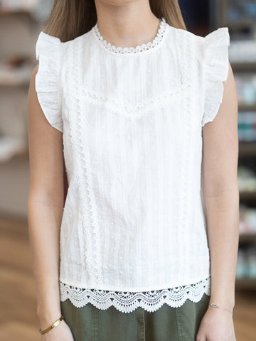 Somerset Lace Detail Top