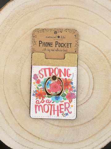 Phone Pocket Ring - Strong as a Mother