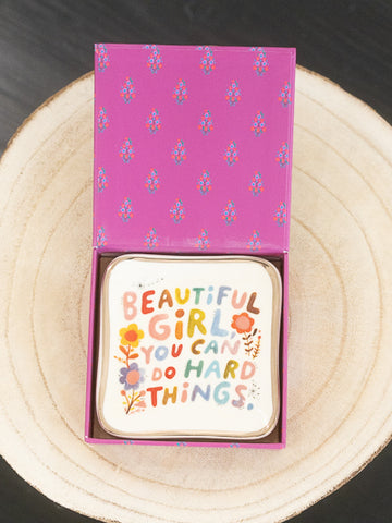 Trinket Dish with Gift Box - Beautiful Girl