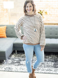 Lamesa Mocha Striped Top
