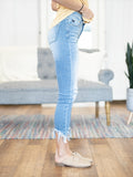 Ultra Frayed Uneven Hem Skinny