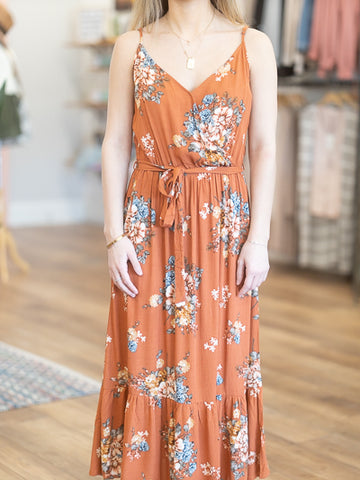 Prairie View Floral Midi Dress