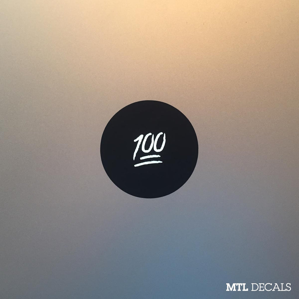 100 Emoji Macbook Decal / One Hundred Macbook Pro Sticker