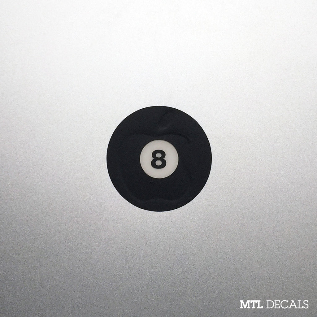 Eight Ball Macbook Decal / 8 Ball Macbook Sticker