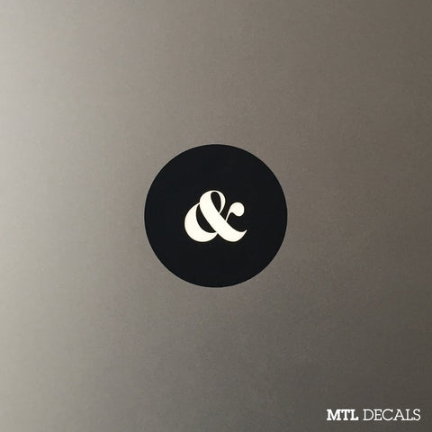 Ampersand Macbook Decal / & Macbook Pro Sticker