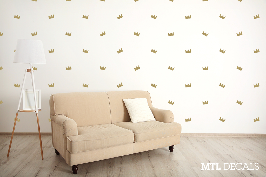 Crown Pattern Basquiat Wall Decal Sticker Home Decor Apartment Decoration DIY